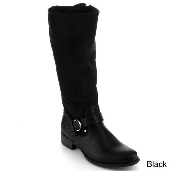 Bumper Women's 'Chelsea-01' Knee-high Riding Boots