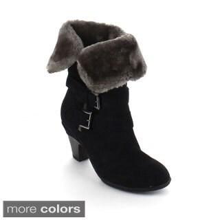 Bumper Women's 'Belle-04' Fold-over Cuff Mid-calf Boots
