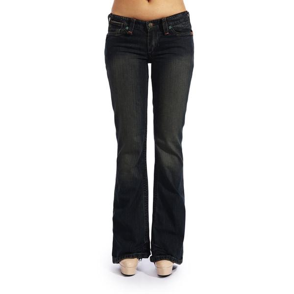Stitch's Womens Boot Cut Jeans Legging Bootcut Blue Pants