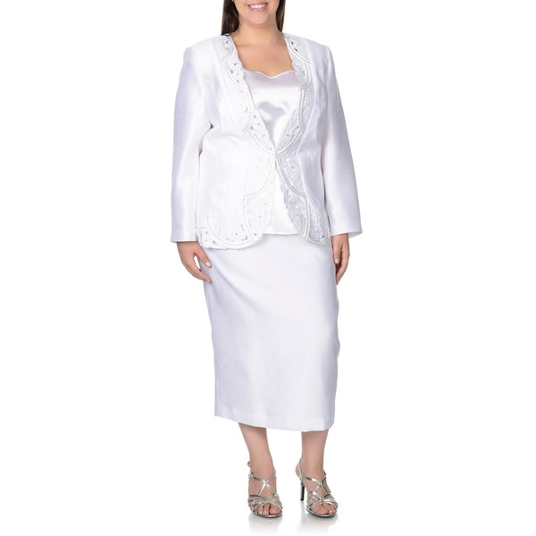 Women s Plus Size White Skirt Suits Read More | View Products