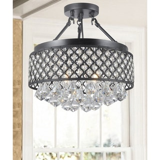 Candice 4-light Antique Bronze Semi Flush Mount Chandelier