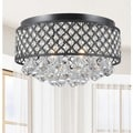 Candice 4-light Antique Bronze Flush Mount Chandelier