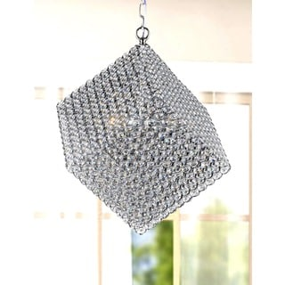 Francisca 3-light Chrome and Crystal Cube Chandelier
