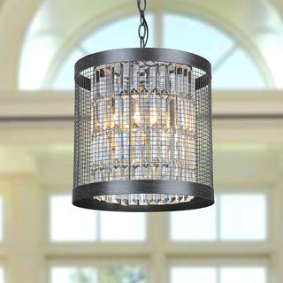 Henrietta 4-light Antique Black Iron Cage Pendant