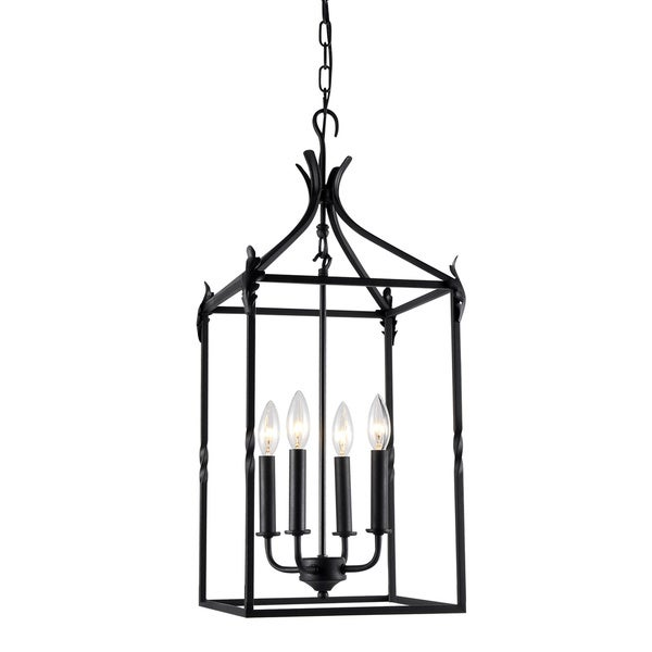 Lantern Chandelier Ceiling Fixture Lamp Iron Lighting