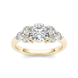 De Couer 14k Yellow Gold 2ct TDW Diamond Engagement Ring (H-I, I1-I2)
