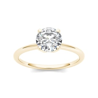 De Couer 14k Yellow Gold 1ct TDW Diamond Solitaire Engagement Ring (H-I, I1-I2)