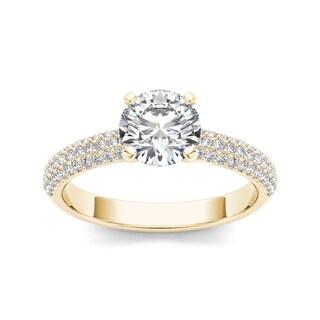 De Couer 14k Yellow Gold 1 1/2ct TDW Diamond Engagement Ring (H-I, I1-I2)