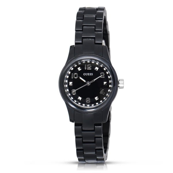Guess Women's W65022L2 Micro Mini Stainless Steel Black Watch