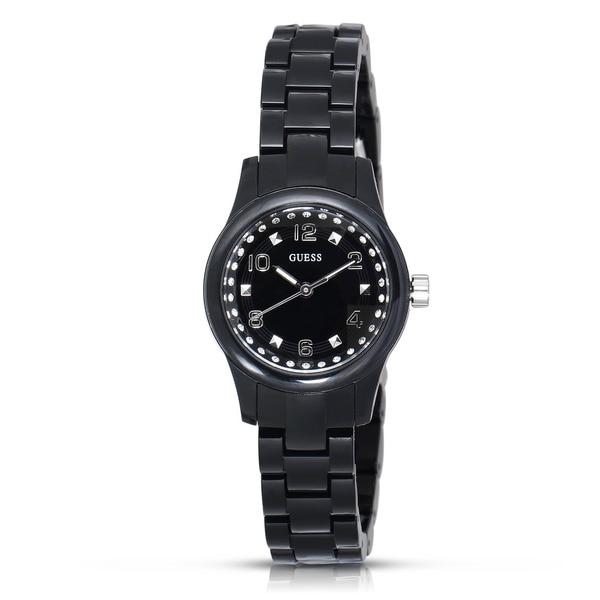 Guess Women's W65022L2 Micro Mini Stainless Steel Black Watch