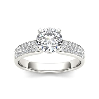 De Couer 14k White Gold 1 1/5ct TDW Diamond Engagement Ring (H-I, I1-I2)