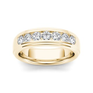 De Couer 14k Yellow Gold 1ct TDW Diamond Band (H-I, I2)