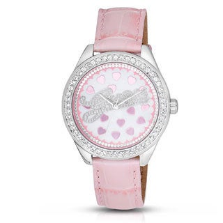 Guess Women's W65021L1 Diamonds Pink Leather Watch