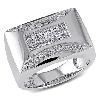 14k White Gold Men's 3/4ct TDW Diamond Ring (H-I, I1-I2)