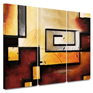 ArtWall Jim Morana 'Abstract Modern' 3 piece gallery-wrapped canvas