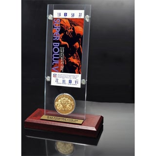 NFL Super Bowl 5 Ticket and Game Coin Collection