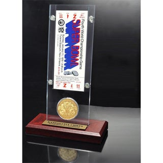 NFL Super Bowl 4 Ticket and Game Coin Collection
