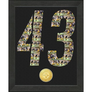 NFL Troy Polamalu Pittsburgh Steelers 'Number Art' Minted Coin Photo Mint