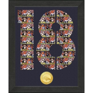NFL Peyton Manning Denver Broncos 'Number Art' Minted Coin Photo Mint