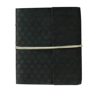 Hand-woven Silk Damask Weave Notebook (India)