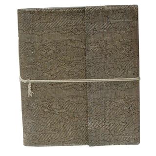 Handwoven Metallic Silk Damask Weave Notebook (India)