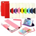 Gearonic PU Leather Credit Card Holder Flip Wallet Case Cover for Apple iPhone 6