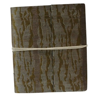 Hand-woven Metallic Silk Damask Weave Notebook (India)