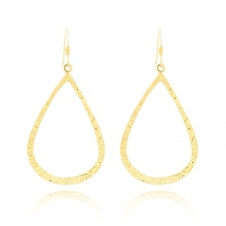 Belcho Small Teardrop-shaped Textured Dangle Earrings