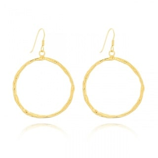 Belcho Small Round Passion Dangle Hoop Earrings