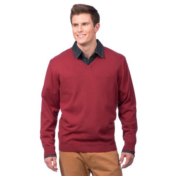 Enzo mantovani men 39 s italian cotton v neck sweater for Enzo mantovani