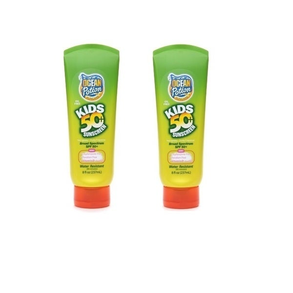 Ocean Potion SPF 50 8-ounce Suncare Kids Sunscreen Lotion (Pack of 2)