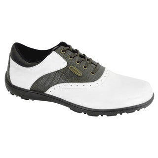 Orlimar 2014 Men's Classic White/ Brown Golf Shoes