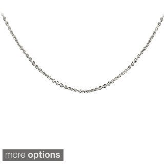 Mondevio Sterling Silver 1mm Rolo Chain Necklace
