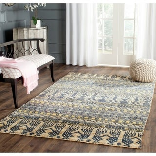 Safavieh Hand-knotted Bohemian Blue Jute Rug (4' x 6')