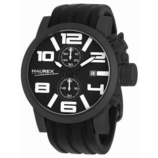 Haurex Italy Men's TURBINA II Collection 6N506UWN Analog Display Chronograph Watch