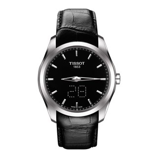Tissot Men's T0354461605100 'Couturier' Black Leather Watch