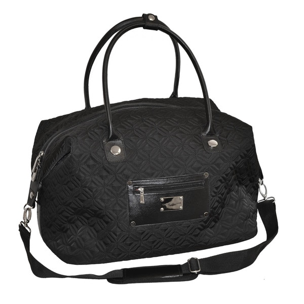 Adrienne Vittadini 18-inch Carry On Quilted Fashion Duffel Bag
