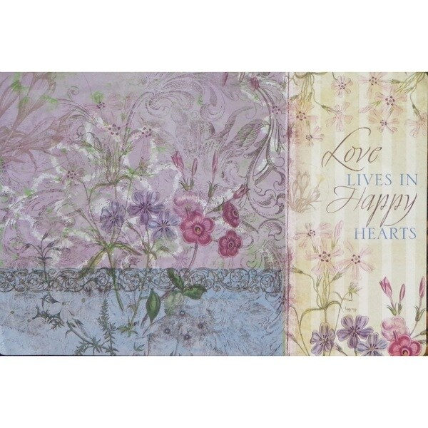 Joy Sentiment Reversible Disposable Paper Placemats (Pack of 12)