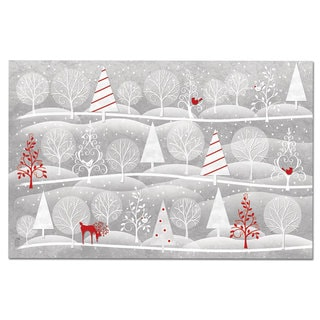 Christmas Day Reindeer Disposable Placemats and Coasters (Set of 12)