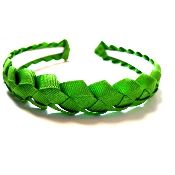 Crawford Corner Shop Green Braided Ribbon Headband