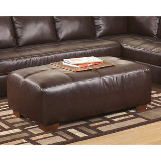 Signature Design by Ashley Fairplay DuraBlend Mahogany Oversized Accent Ottoman