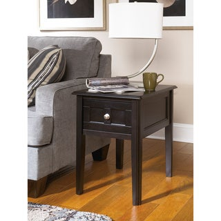 Signature Design by Ashley Henning Almost Black Chair Side End Table