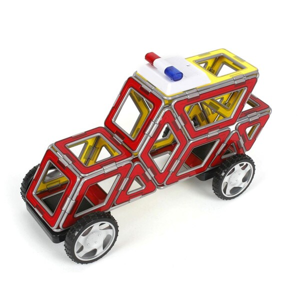 Magformers XL Cruisers Emergency Vehicles Play Set