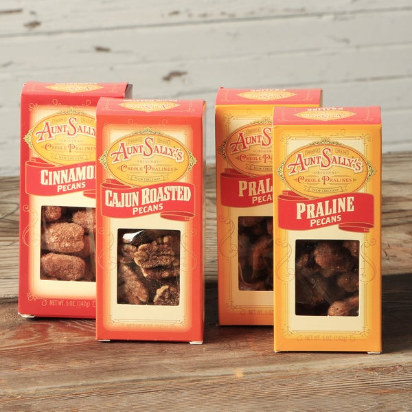 Aunt Sally's Coated Louisiana Pecans Variety Bundle (Pack of 4)