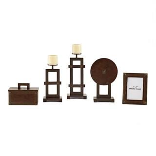 Signature Design by Ashley Sesen 5-piece Bronze Faux Leather Accessory Set