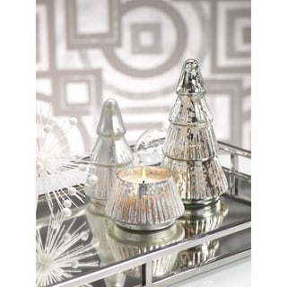 Mercury Glass Scented Candle Tree