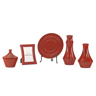 Signature Design by Ashley Sirilla Red 5-piece Accessory Set