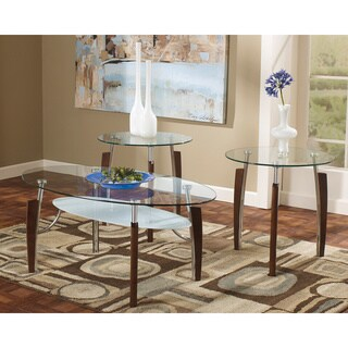 Signature Design by Ashley Avani Nickel 3-piece Occasional Table Set