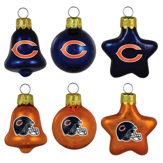 Chicago Bears Mini Blown Glass Ornament Set