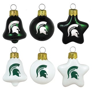 Michigan State Spartans Mini Blown Glass Ornament Set